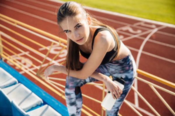 athlete girl resting, exercising, fitness